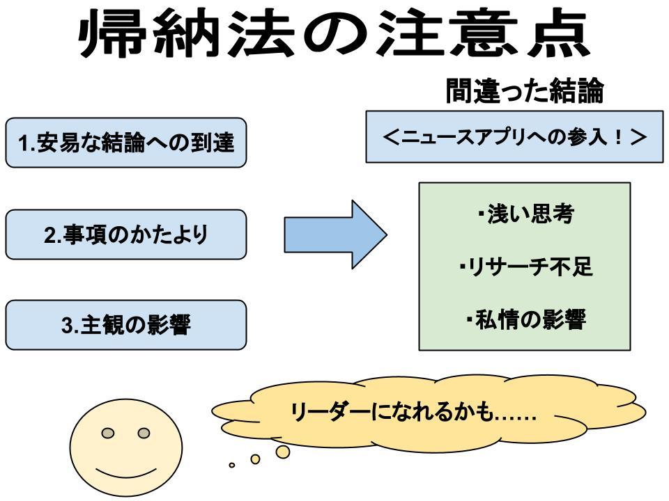 帰納法の3つの注意点